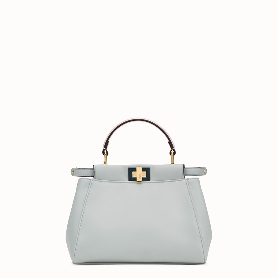 FENDI PEEKABOO MINI - Grey leather bag - view 1 detail