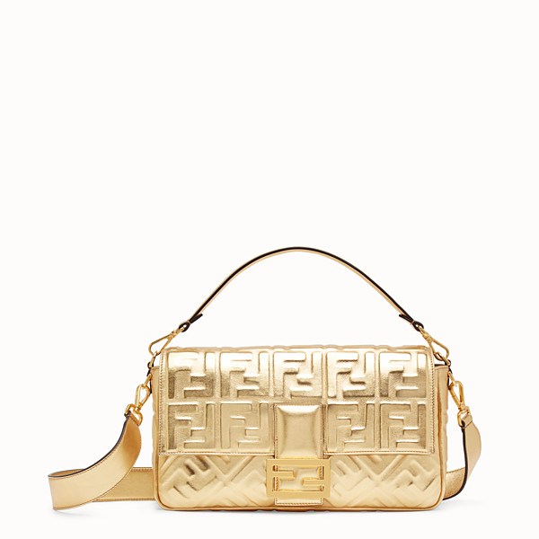 FENDI BAGUETTE LARGE - Golden leather bag - view 1 small thumbnail