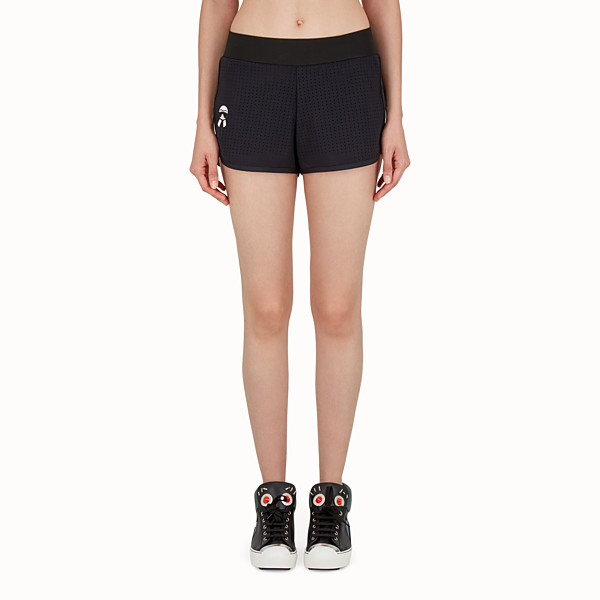 FENDI SHORTS - Shorts in black openwork fabric - view 1 small thumbnail