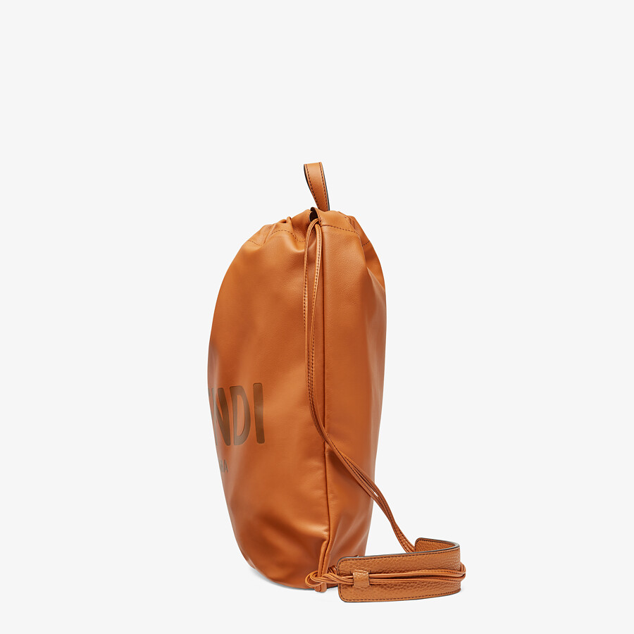 FENDI BACKPACK - Brown leather backpack - view 2 detail