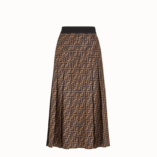 FENDI SKIRT - Brown twill skirt - view 1 small thumbnail