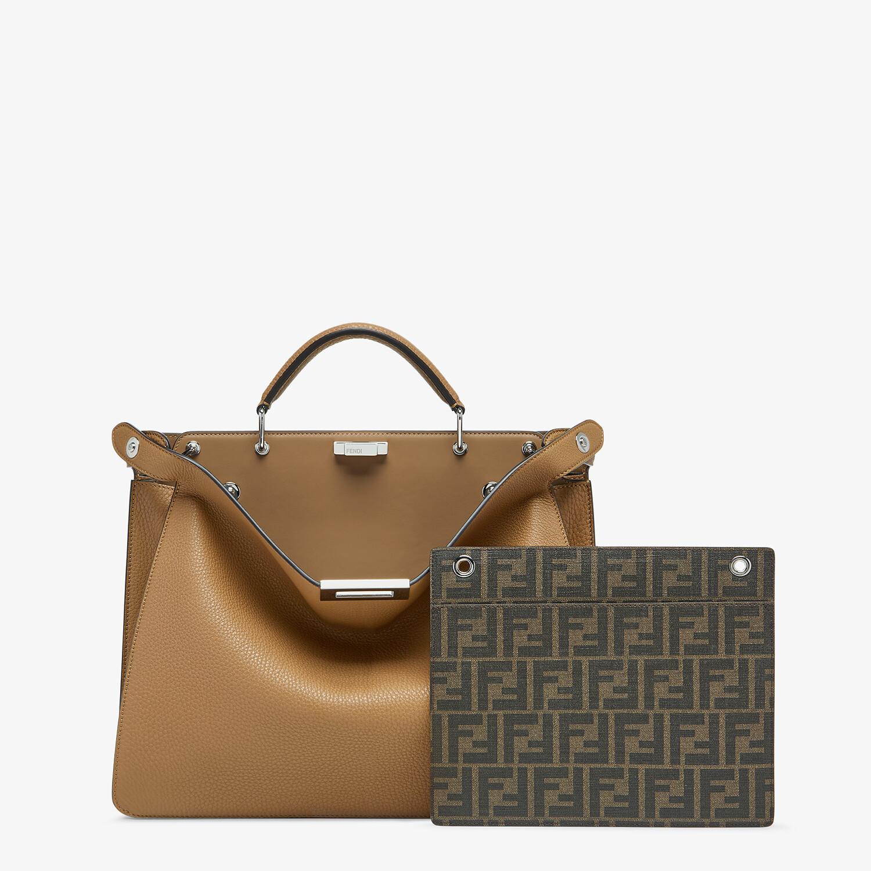 FENDI PEEKABOO ISEEU MEDIUM - Beige leather bag - view 2 detail