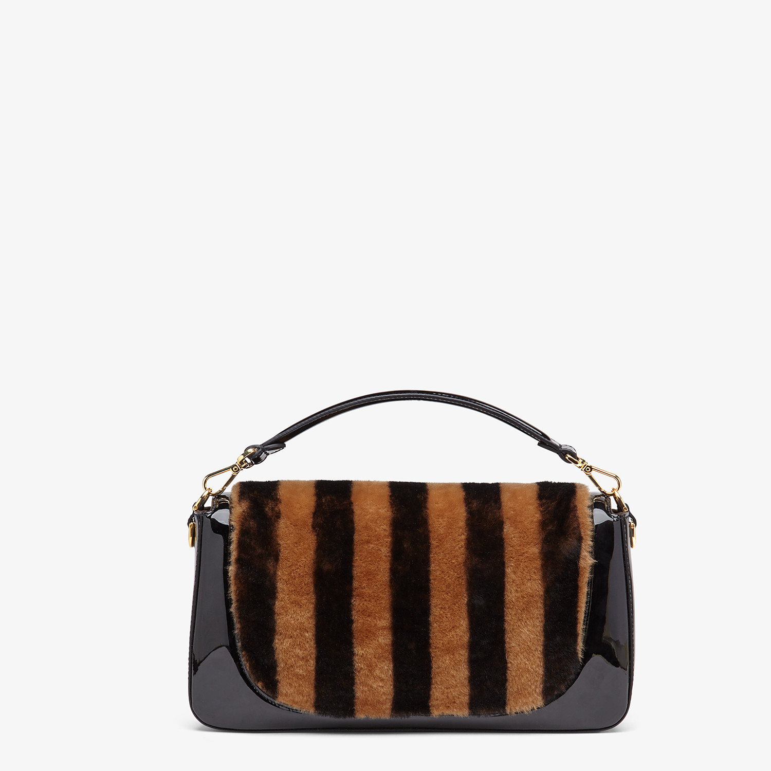 FENDI BAGUETTE LARGE - Multicolour, patent leather and sheepskin bag - view 4 detail