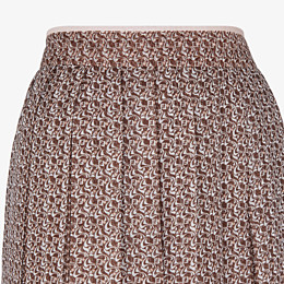 FENDI SKIRT - Skirt in pink and brown silk - view 3 thumbnail