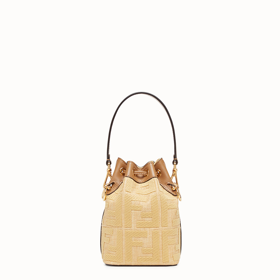 FENDI MON TRESOR - Beige raffia mini bag - view 4 detail