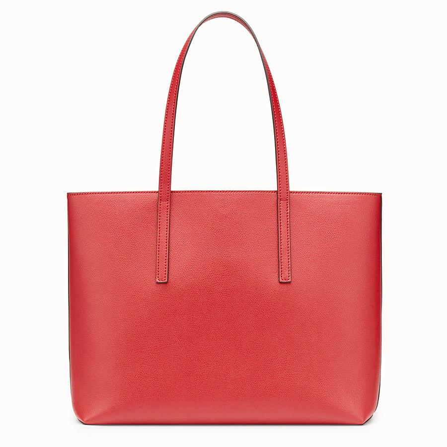 FENDI SHOPPER - Red leather shopper - view 3 detail
