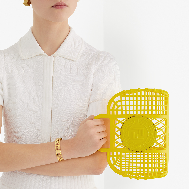FENDI FENDI BASKET SMALL - Yellow recycled plastic mini-bag - view 2 detail
