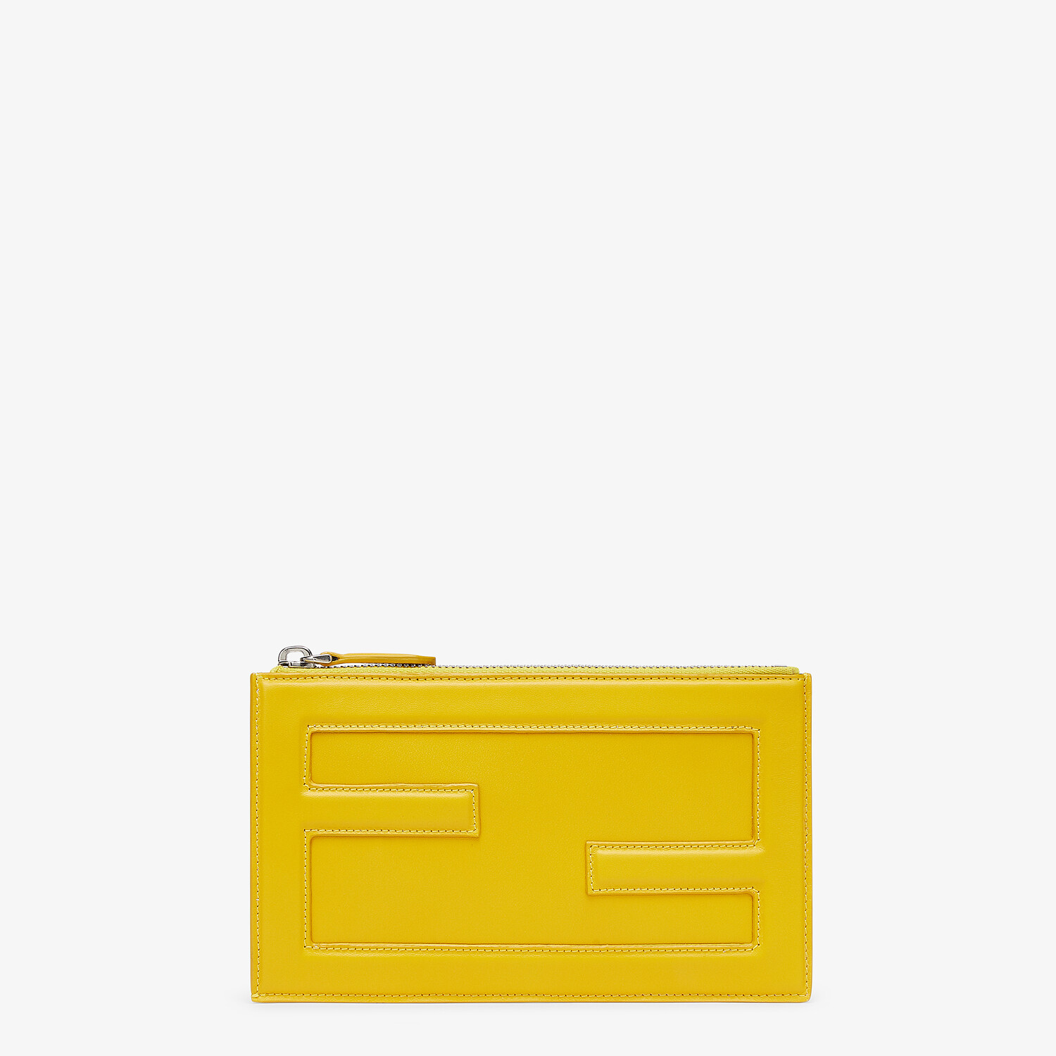 FENDI BAGUETTE POUCH SMALL - Yellow leather bag - view 1 detail