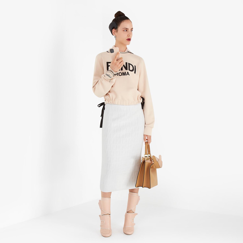FENDI SKIRT - White velvet skirt - view 4 detail
