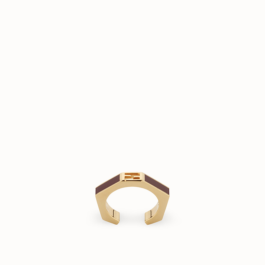 FENDI BAGUETTE RING - Polished burgundy Baguette ring - view 1 detail