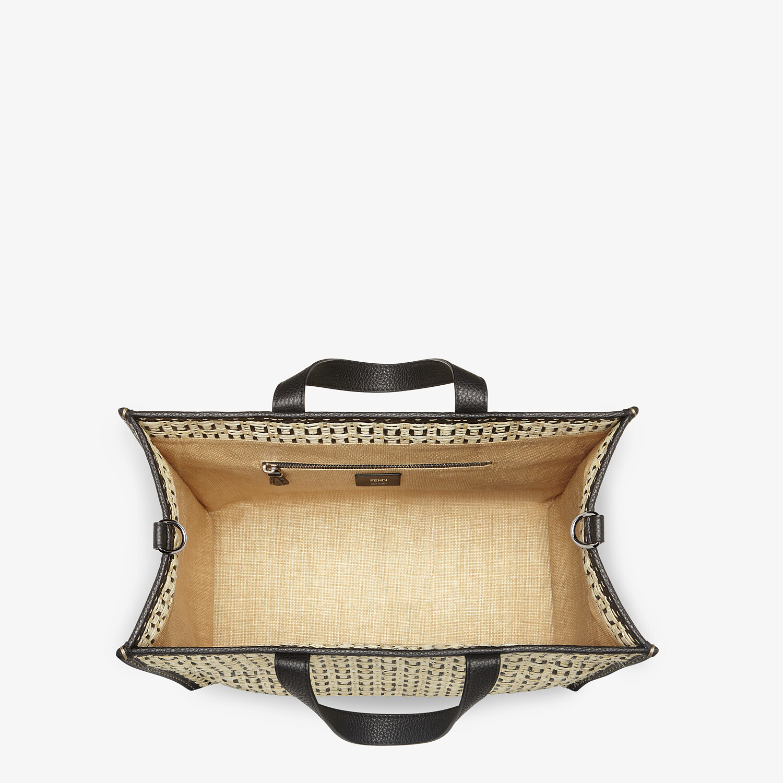FENDI SHOPPER - Natural straw bag - view 4 detail