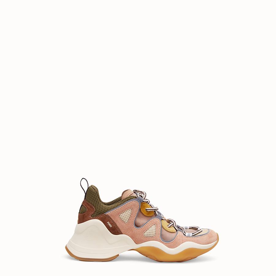 FENDI SNEAKER - Niedriger Sneaker aus Veloursleder in Rosa - view 1 detail