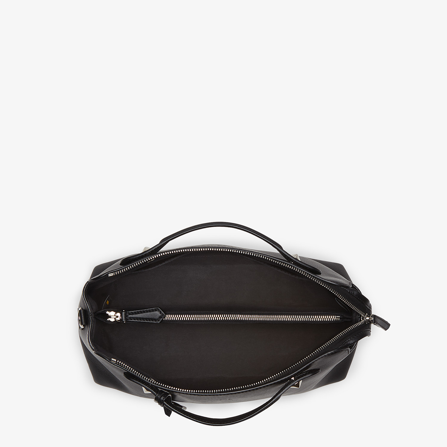 FENDI LARGE BY THE WAY - in black leather - view 4 detail
