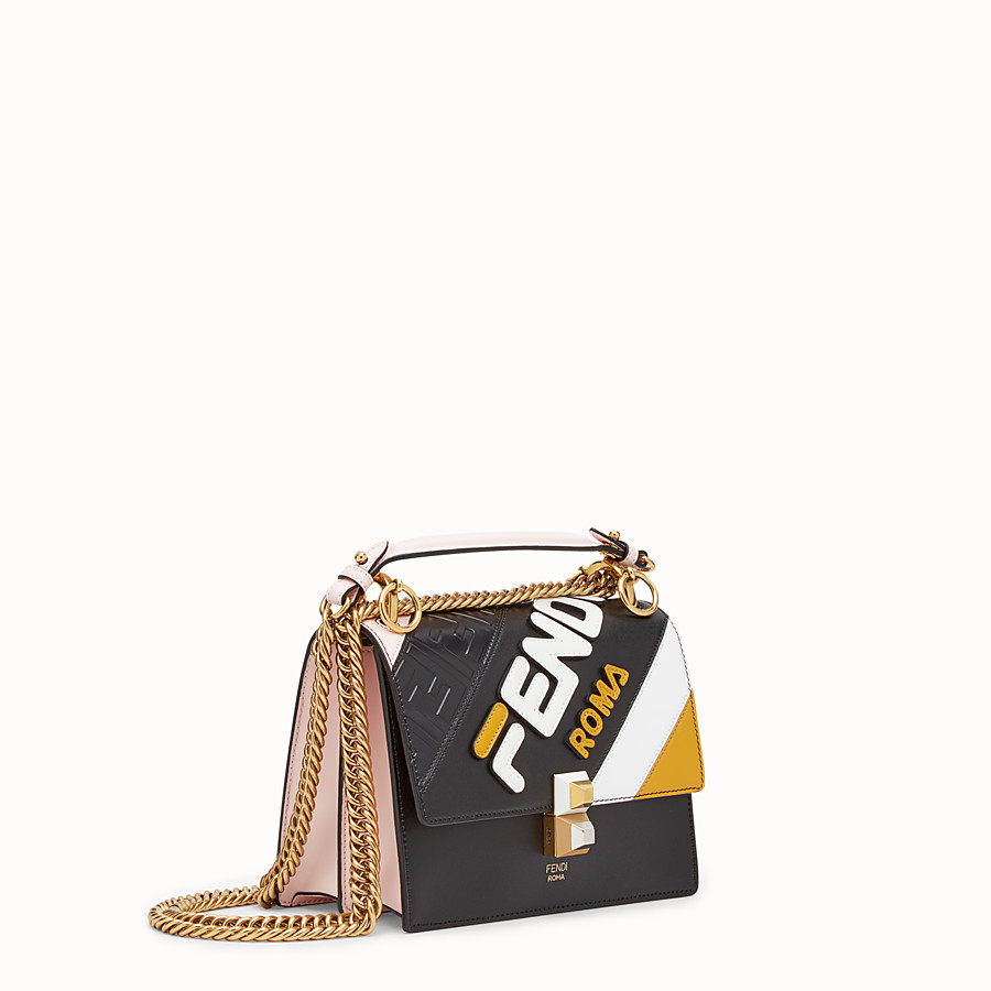 FENDI KAN I SMALL - Multicolour leather minibag - view 2 detail