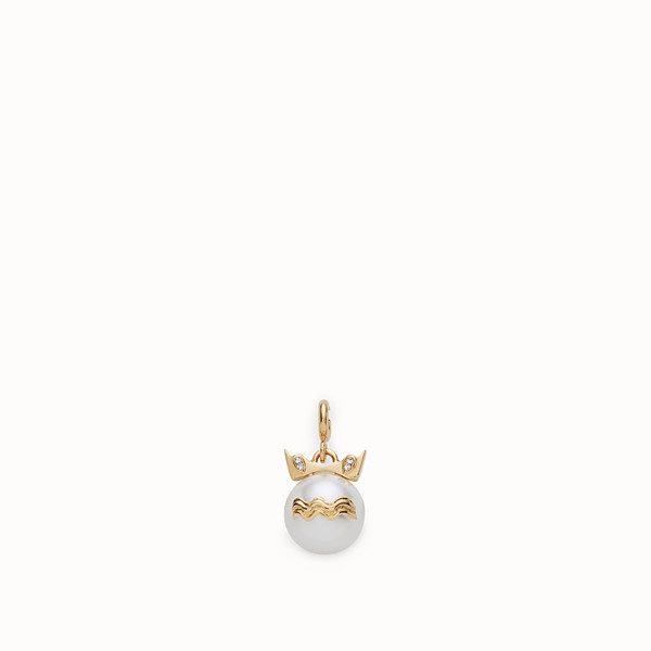 FENDI AQUARIUS PENDANT - Pendant with pearl - view 1 small thumbnail