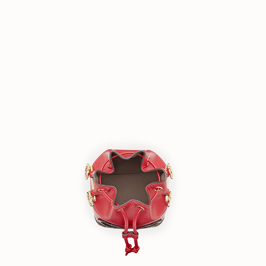FENDI MON TRESOR - Red leather mini-bag with exotic details - view 4 detail