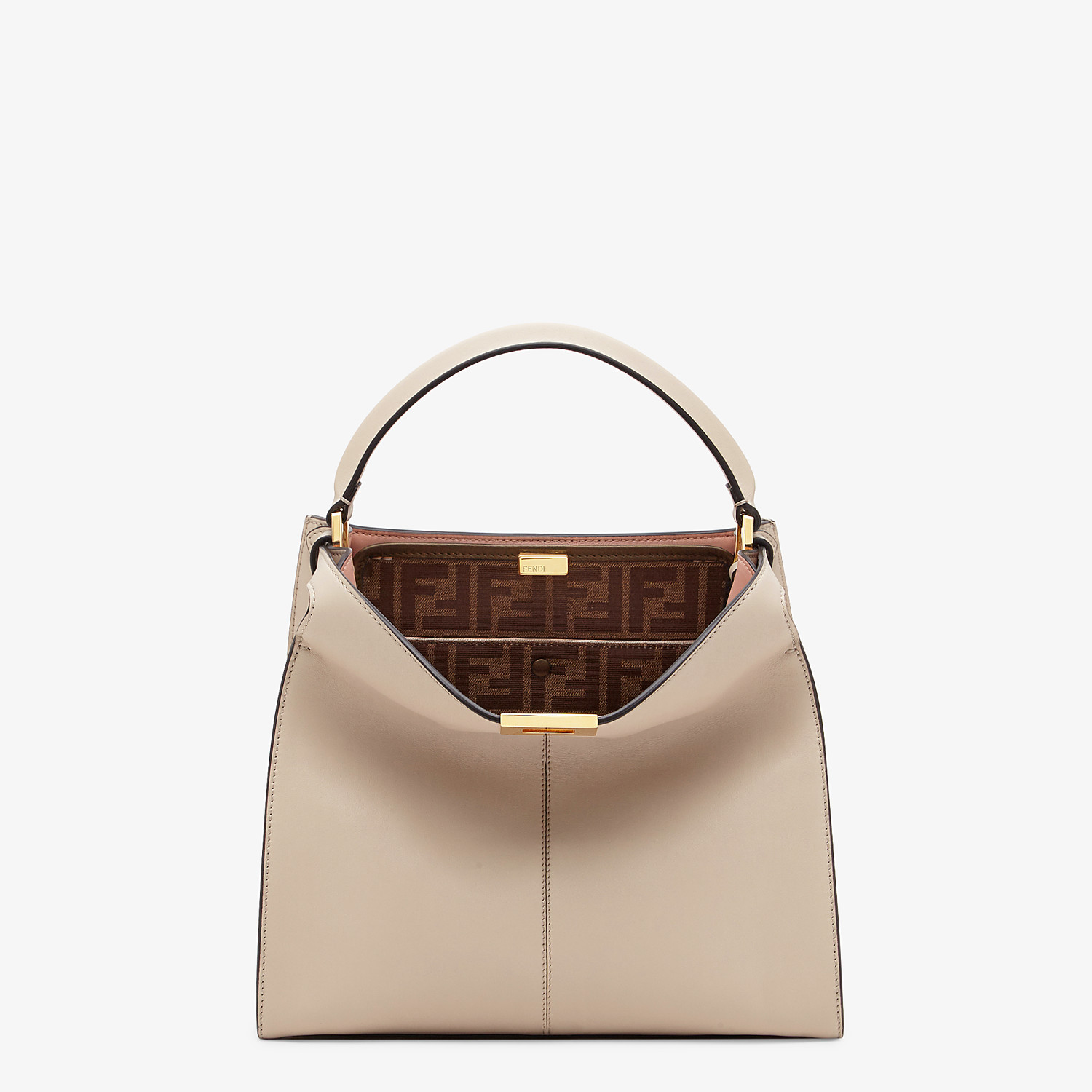 FENDI MEDIUM PEEKABOO X-LITE - Beige leather bag - view 2 detail