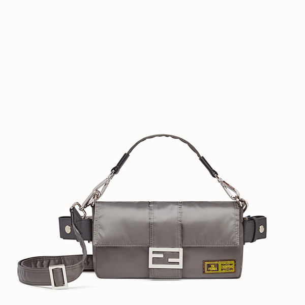 FENDI BAGUETTE FENDI AND PORTER - Silver-color nylon bag - view 1 small thumbnail