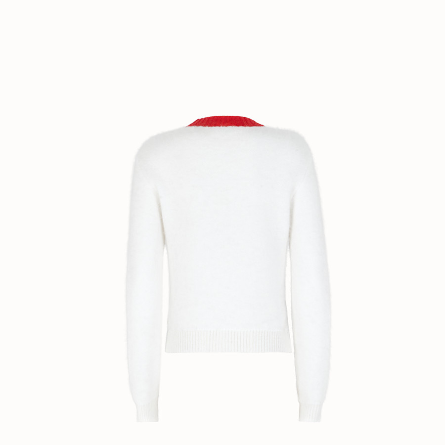 FENDI PULLOVER - White mohair jumper - view 2 detail