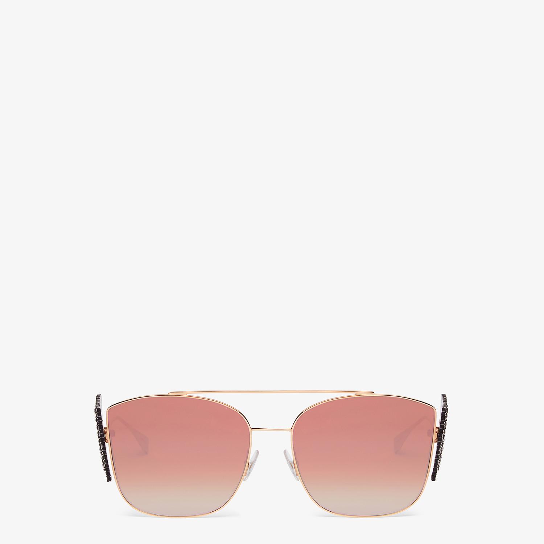 FENDI FFREEDOM - Gold-color sunglasses - view 1 detail