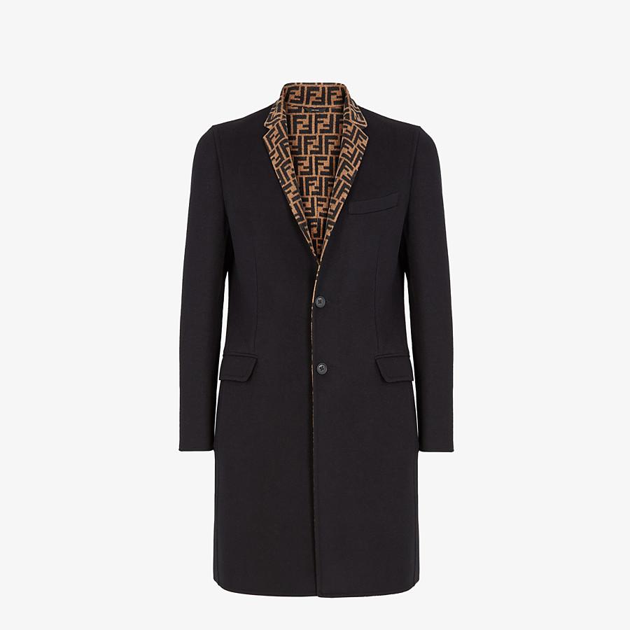 FENDI COAT - Black wool coat - view 1 detail
