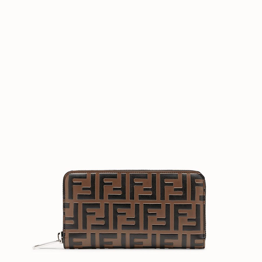 FENDI WALLET - Brown leather wallet - view 1 detail