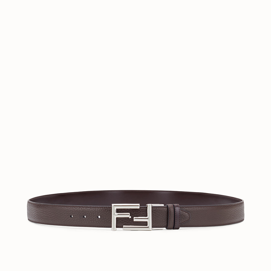 FENDI BELT - Brown leather belt - view 1 detail