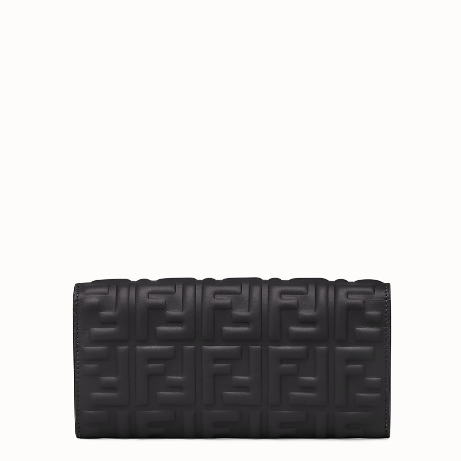 FENDI CONTINENTAL WITH CHAIN - Black nappa leather wallet - view 3 detail
