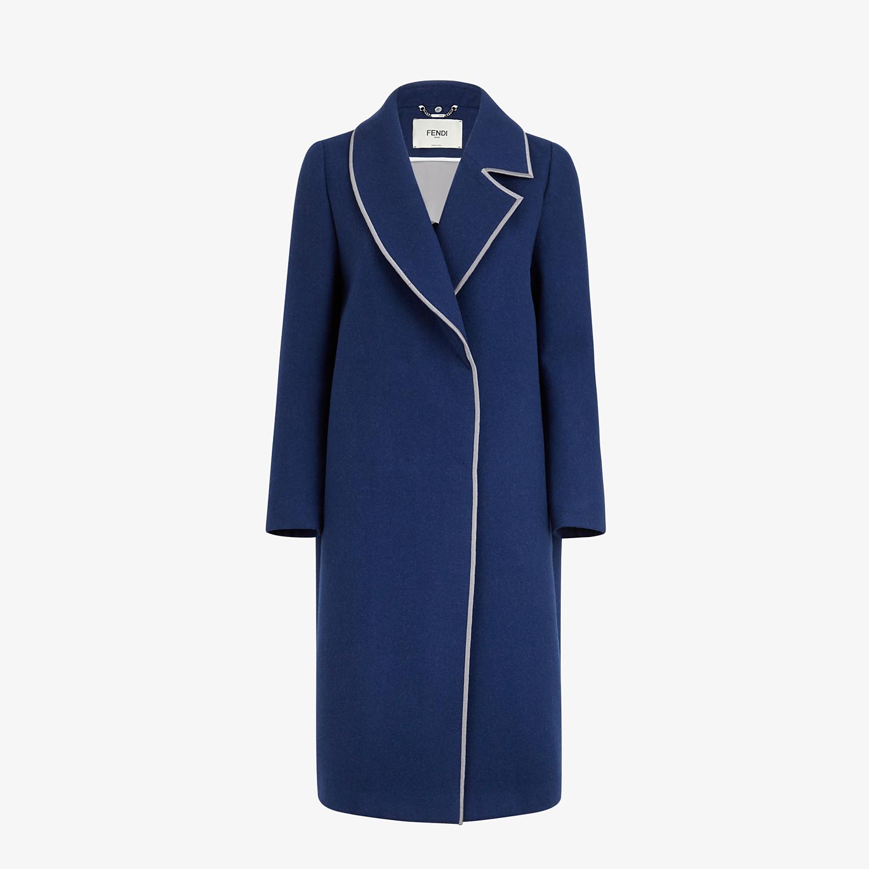 FENDI SOPRABITO - Cappotto in lana blu - vista 4 dettaglio