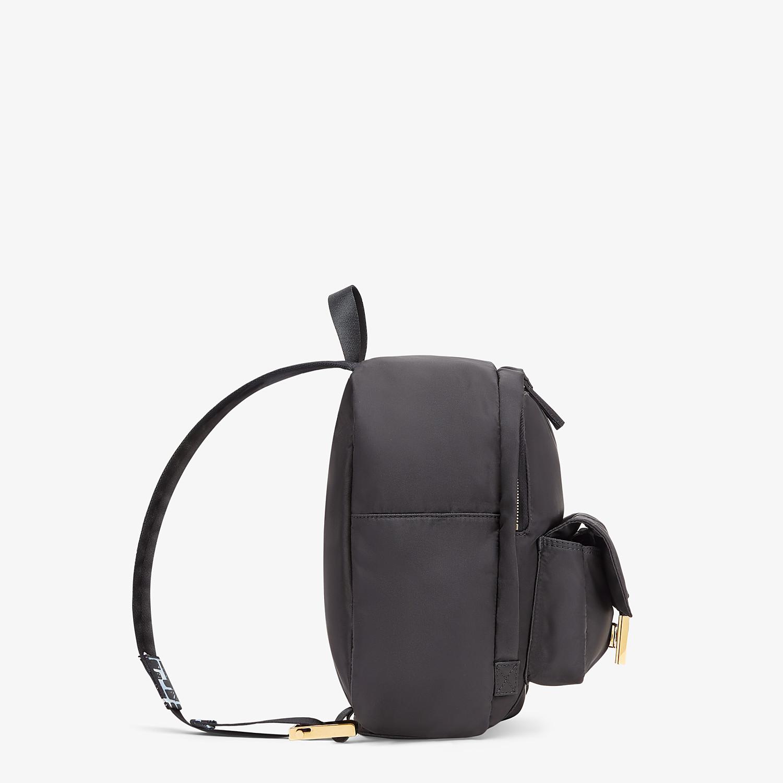 FENDI BAGUETTE BACKPACK - Black nylon backpack - view 3 detail
