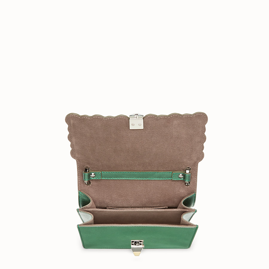FENDI KAN I SMALL - Green laminated leather mini bag - view 4 detail