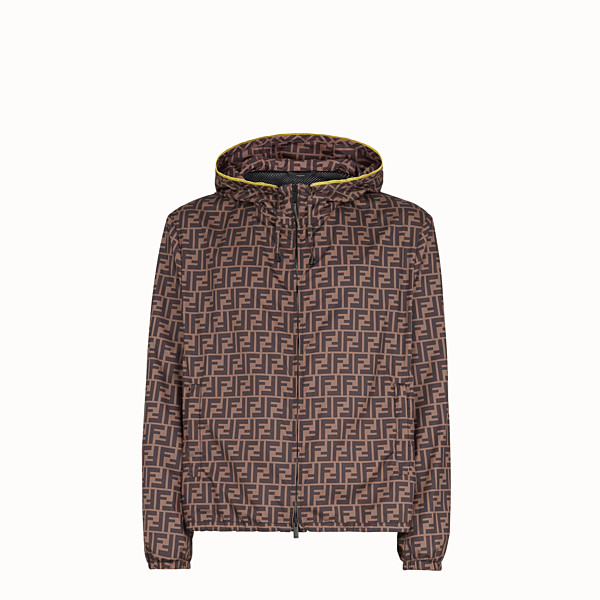 FENDI WINDBREAKER - Brown nylon windbreaker - view 1 small thumbnail