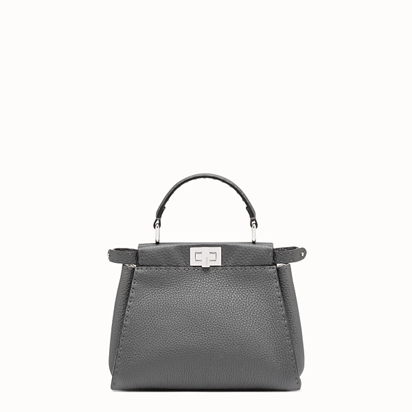 FENDI PEEKABOO ICONIC MINI - Asphalt-grey Selleria handbag - view 1 small thumbnail