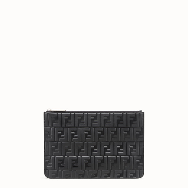 FENDI CLUTCH - Pochette in pelle nera - vista 1 thumbnail piccola
