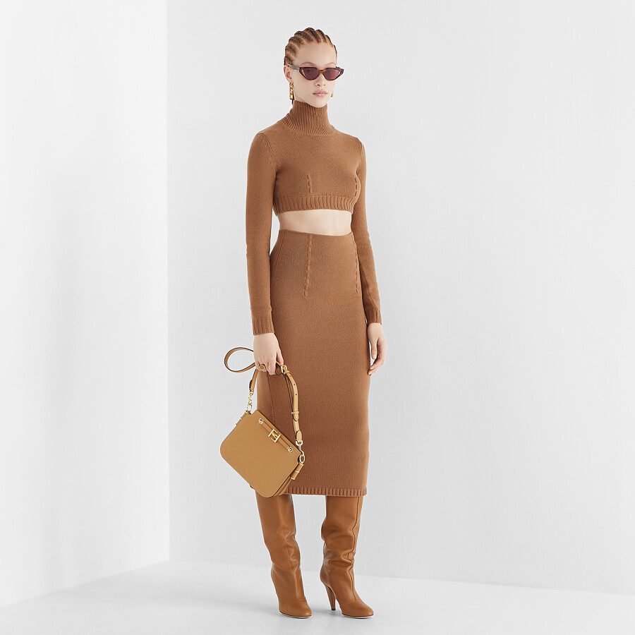 FENDI SWEATER - Brown cashmere sweater - view 4 detail
