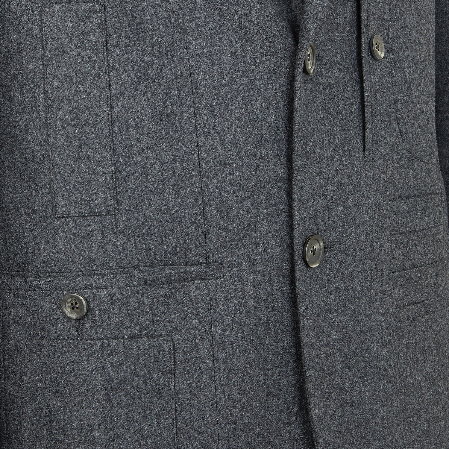 FENDI JACKET - Grey wool blazer - view 3 detail