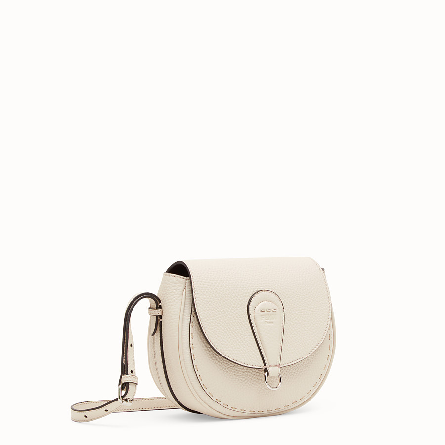 FENDI SHOULDER BAG - White leather bag - view 2 detail