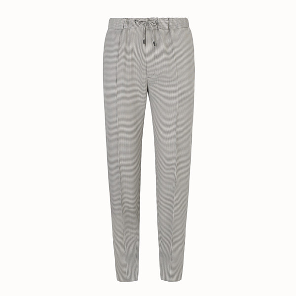 FENDI TROUSERS - Grey fabric trousers - view 1 small thumbnail