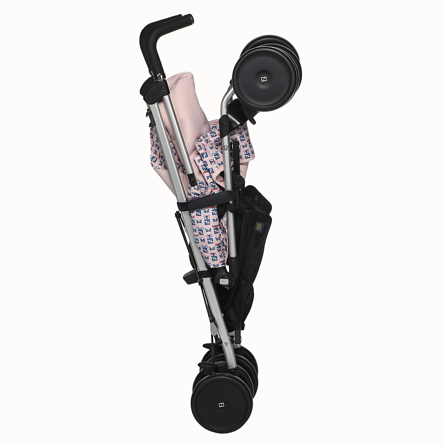 FENDI STROLLER - Pink stroller in fire-resistant material with monster pattern - view 4 detail
