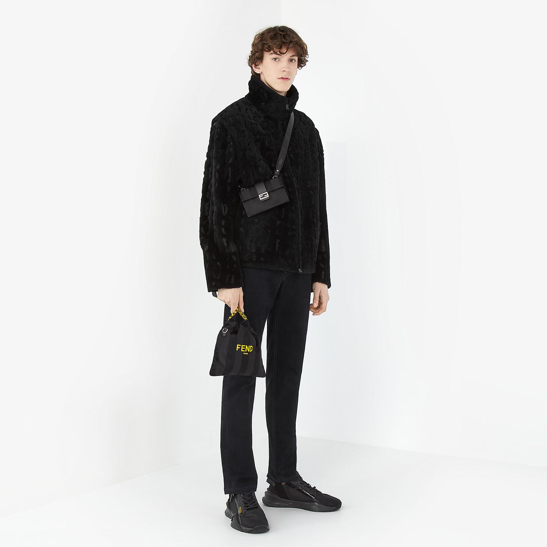 FENDI BAGUETTE POUCH - Black nylon bag - view 5 detail