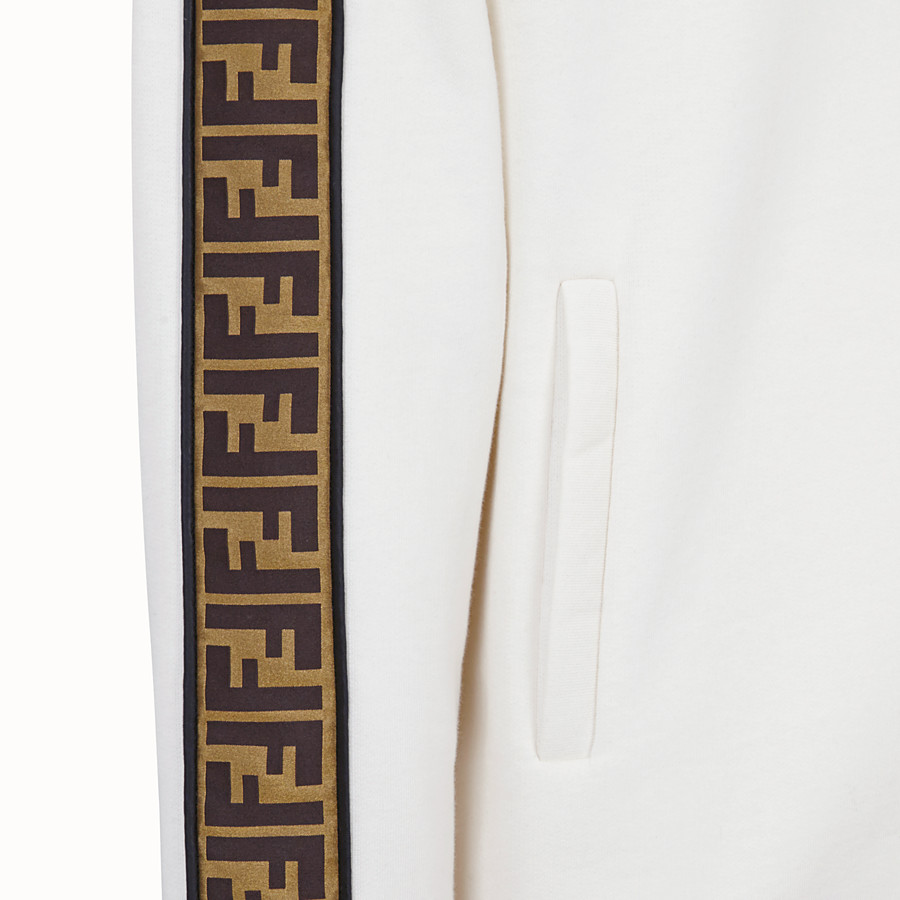 FENDI SWEATSHIRT - White cotton jersey sweatshirt. - view 3 detail