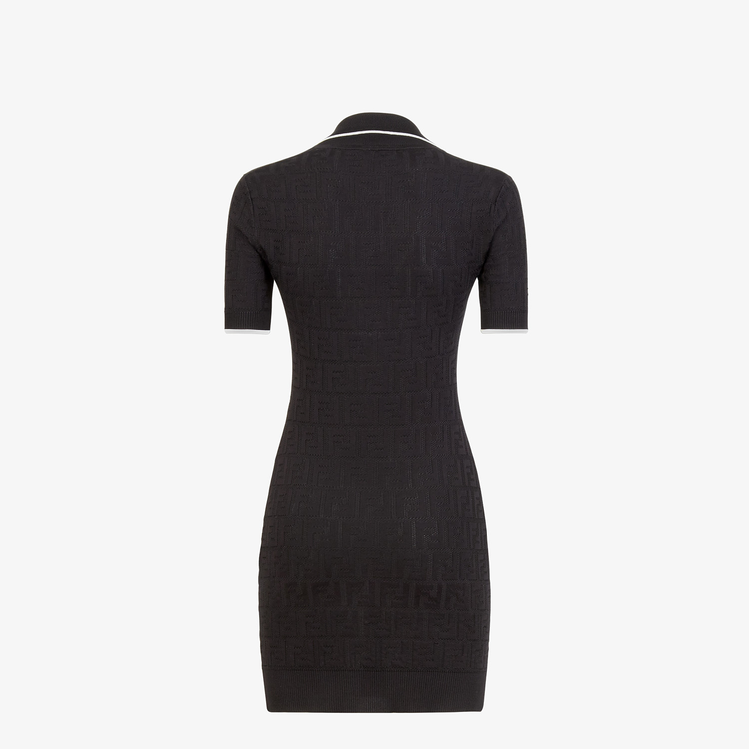 FENDI DRESS - Black viscose and cotton dress - view 2 detail