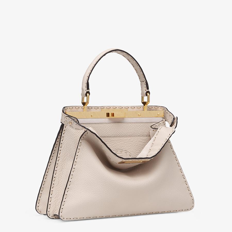 FENDI PEEKABOO ISEEU MEDIUM - White full grain leather bag - view 4 detail