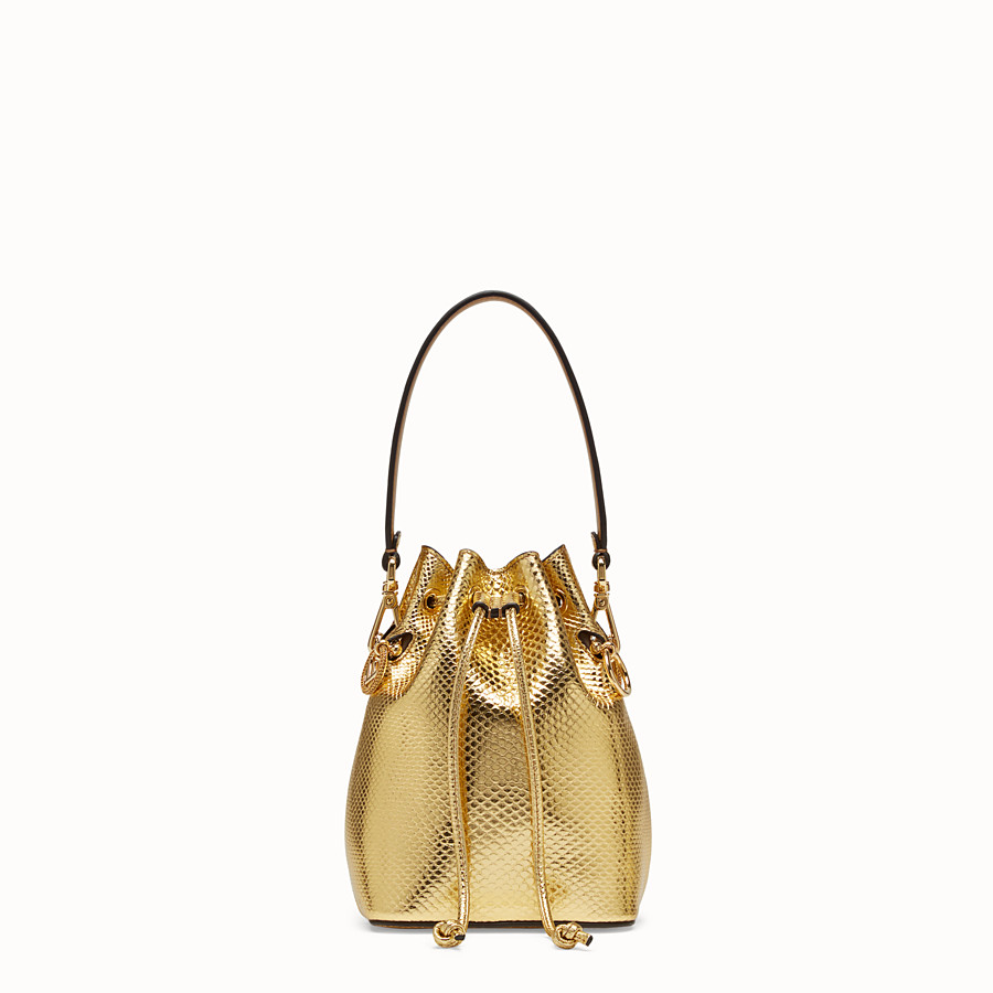 FENDI MON TRESOR - Gold coloured karung mini-bag - view 1 detail