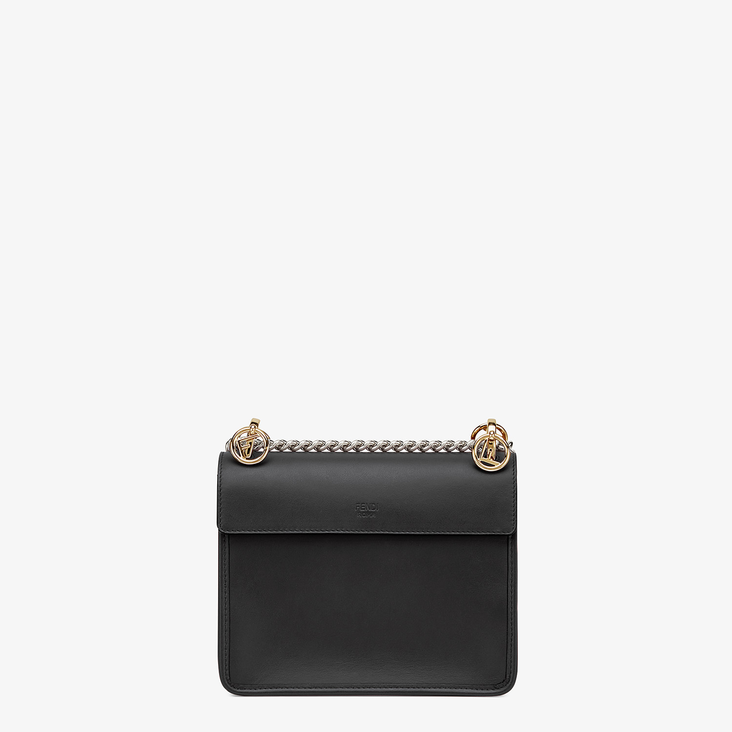 FENDI KAN I F SMALL - Black leather mini-bag - view 4 detail