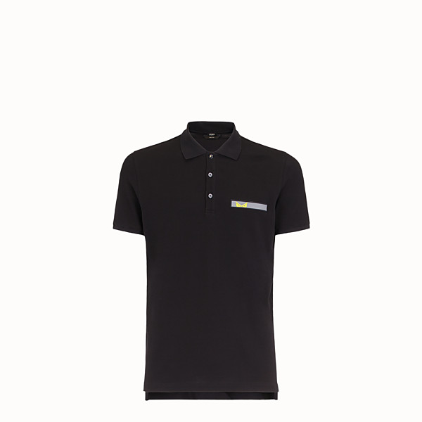 FENDI POLO - Chemise en coton noir - view 1 small thumbnail