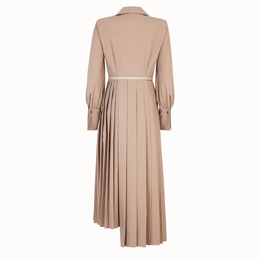 FENDI DRESS - Beige cotton taffeta dress - view 2 detail