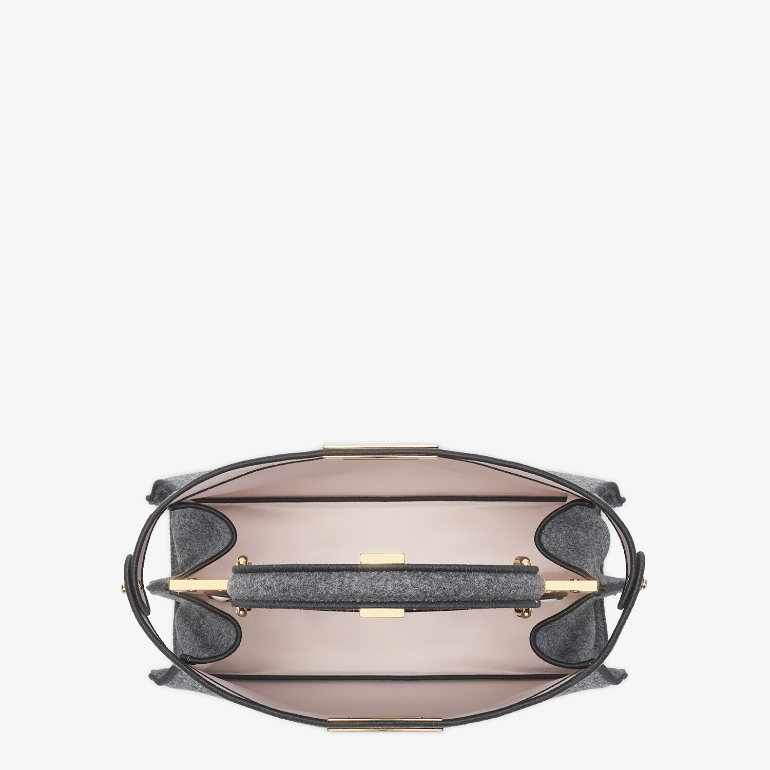 FENDI MEDIUM PEEKABOO ISEEU - Gray flannel bag - view 7 detail
