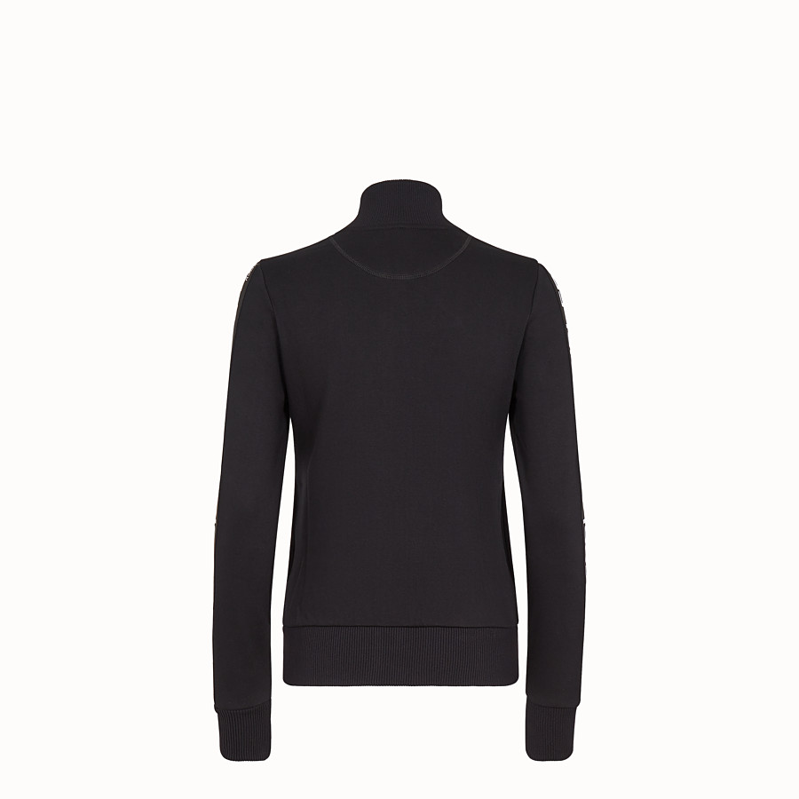 FENDI SWEATSHIRT - Black fabric sweatshirt - view 2 detail