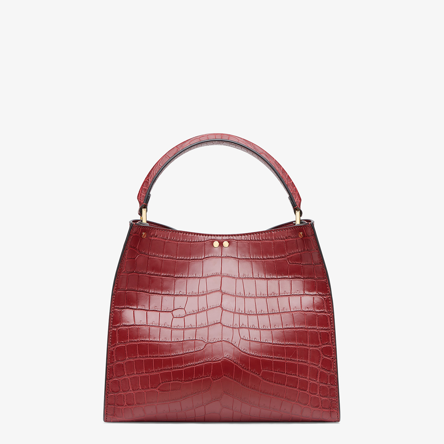FENDI PEEKABOO X-LITE MEDIUM - Burgundy crocodile leather bag - view 4 detail